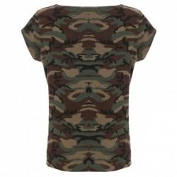 camo lady - T-shirty